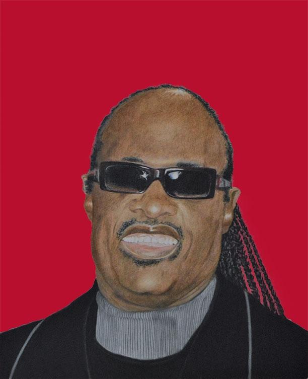 Stevie Wonder by aljentart
